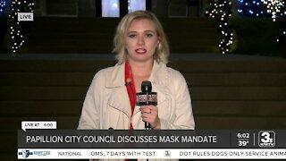 Papillion City Council holding public hearing on mask mandate