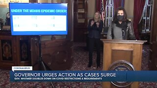 Gov. Whitmer urges Michiganders to take climbing COVID-19 cases seriously