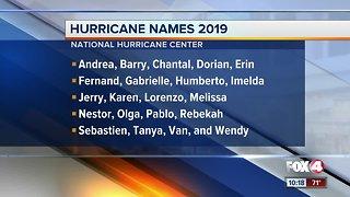 Hurricane Center releases 2019 Hurricane Season names