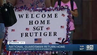 National Guardsman return home to Phoenix after 11 months
