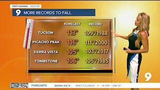 The dangerous heat wave continues