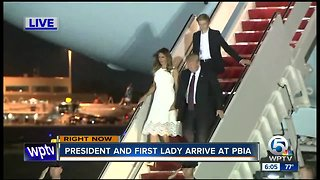 President Trump arrives in Palm Beach County for Thanksgiving