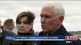 VP Mike Pence tours Iowa flooding