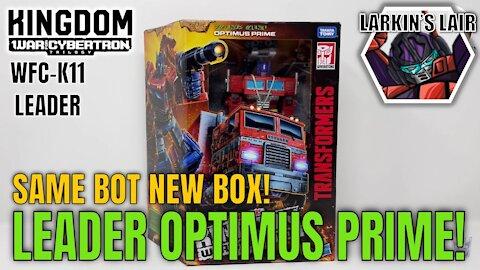 Transformers Kingdom Leader Optimus Prime Review WFC-K11, Larkin's Lair