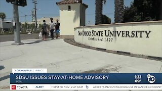 SDSU issues stay-at-home advisory