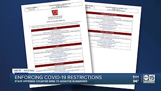 Enforcing COVID-19 restrictions