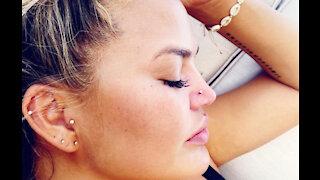 Chrissy Teigen's nose piercing fail