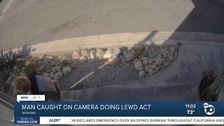 Man caught on camera doing lewd act