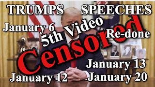 PRESIDENT TRUMP SPEECHES January 6 January 12 January 13 January 20