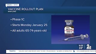 Maryland speeding up vaccination rollout, moving into phases 1B and 1C within next two weeks