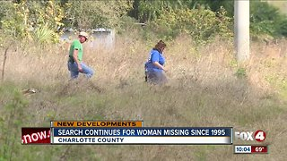 Search continues for woman missing since 1995