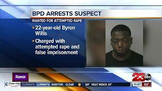 Bakersfield Police Department arrests rape suspect