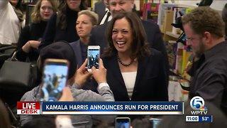 California Sen. Kamala Harris announces she's running for president in 2020