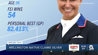 Wellington native takes home silver medal