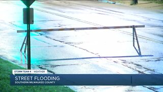 Street flooding in south Milwaukee