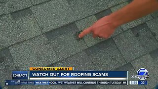 Watch out for roofing scams