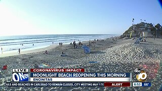 Multiple beaches in San Diego County reopen