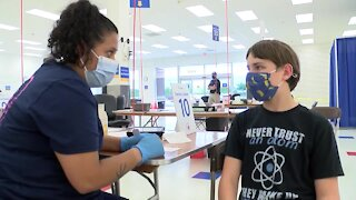 Follow along as 12-year-old gets Pfizer COVID vaccine