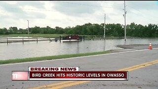 Water levels block roads in Owasso