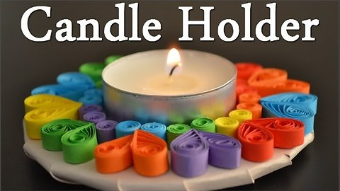 How to make a paper quil candle holder