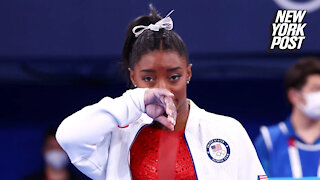 Simone Biles out of team gymnastics competition at Olympics with mystery issue