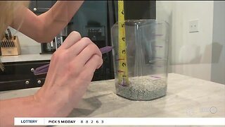 Weather Experiment: Create your own rain gauge with the kids