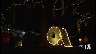 2020 themed holiday lights display
