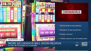 More Arizona casinos will reopen soon