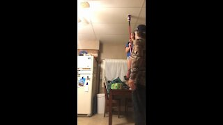 Girl Plays Water Cup Prank On Her Father