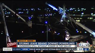Boulder Highway still closed because of downed lines