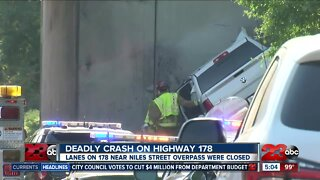 Deadly crash on Highway 178 Tuesday morning