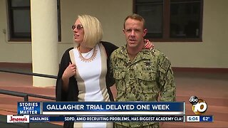 Trial for accused Navy SEAL delayed for one week