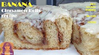 Banana Cinnamon Rolls Recipe   No Egg   Vegan Option   EASY PRESSURE COOKER RECIPES