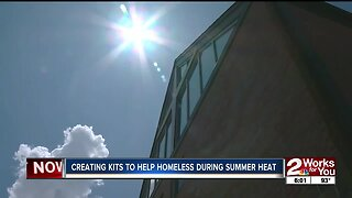 Creating kits to help homeless during summer heat