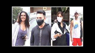 Karishma Tanna, Karan Tacker, Arrti Singh & Aditya Narayan Snapped Outside The Gym