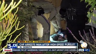 Driver who led chase found hiding under car, arrested