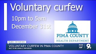 Voluntary curfew suggested by Pima County Health Department