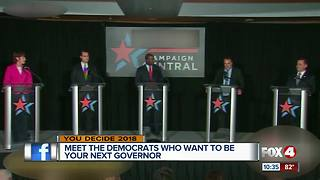 Democratic candidates for governor square off
