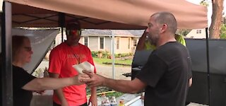 Owner loses farm in Armada tornado then donates meat to community