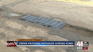 Pothole patrol: KCMO seeing 5 times number of potholes compared to 2018