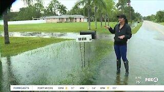 Mango Drive in Bonita Springs sees flooding from rain