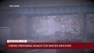 Metro Detroit road crews preparing for first blast of winter weather