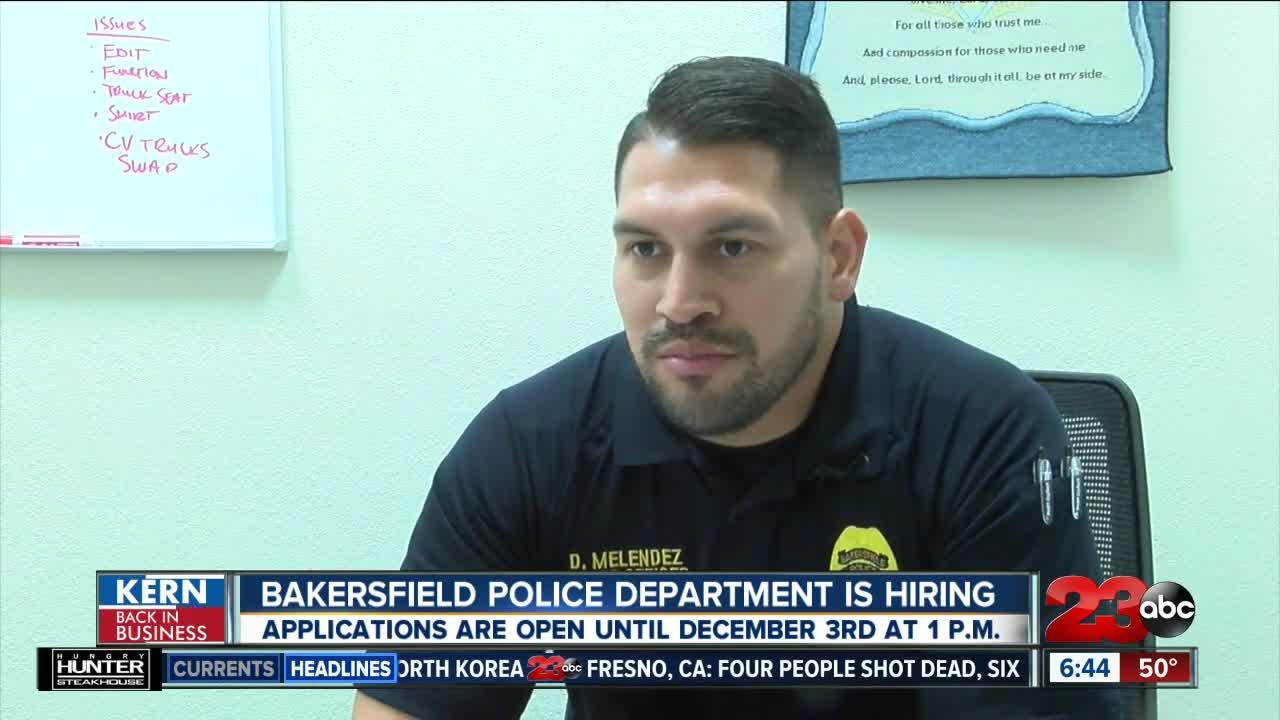 Bakersfield Police Department is hiring