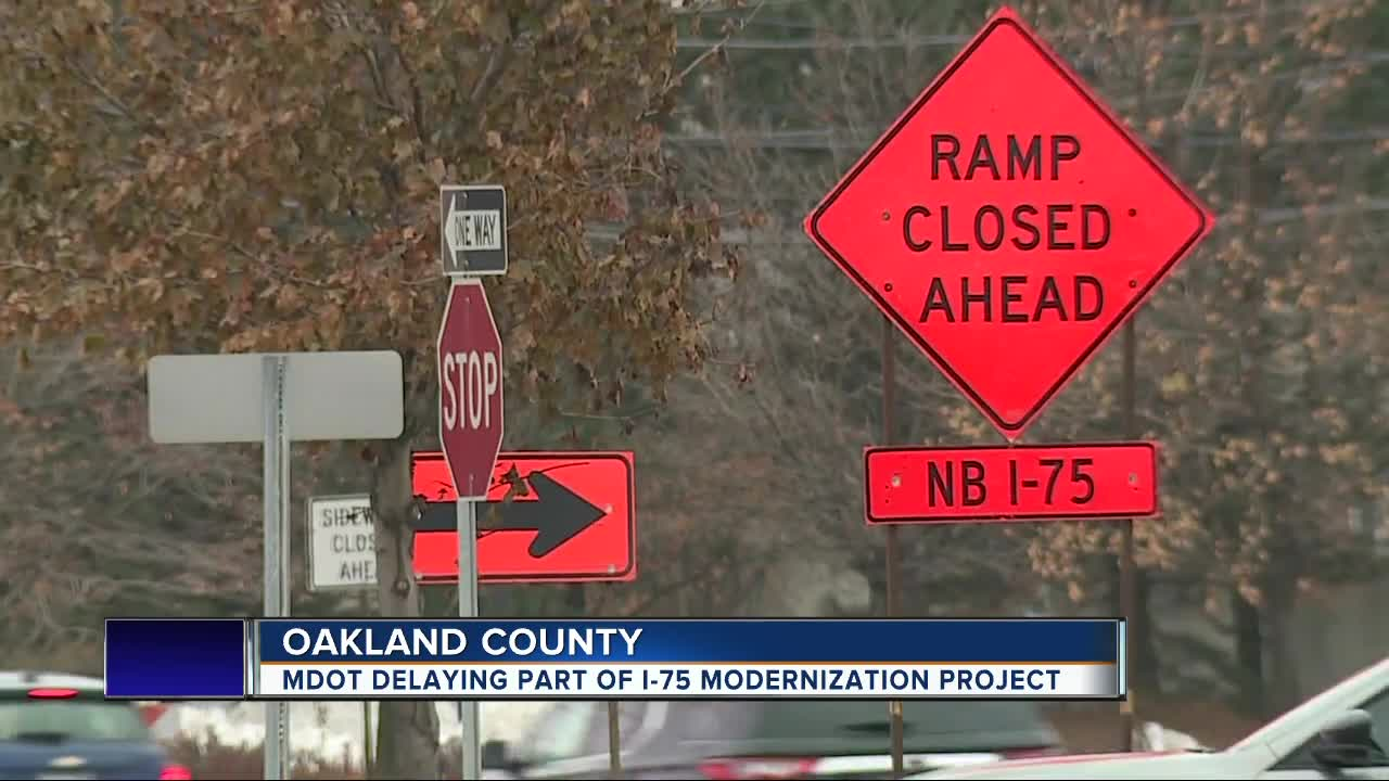 Construction on phase 2 of I-75 modernization project delayed until late December