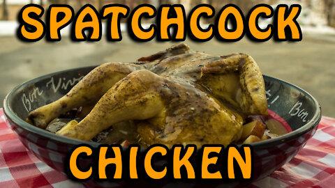 Dutch Oven Spatchcock Chicken