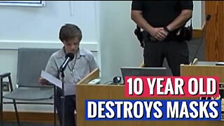 10 Year-Old DESTROYS Mask Wearing At School
