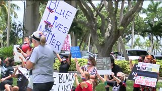 Police Support Rally meets Black Lives Matter Protest