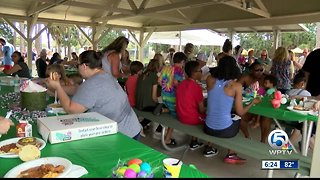 Easter egg hunt held in West Palm Beach