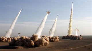Iranian missiles fly from underground