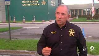 Martin County Sheriff William Snyder reacts to video of George Floyd